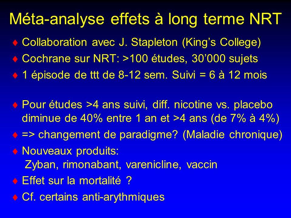 Méta-analyse effets à long terme NRT