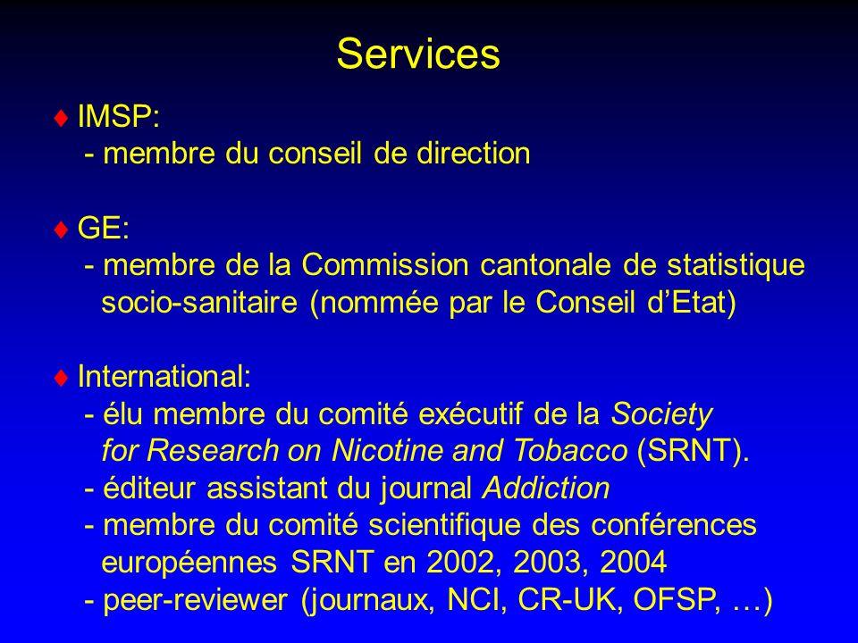 Services IMSP: - membre du conseil de direction