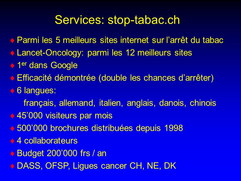 Services: stop-tabac.ch
