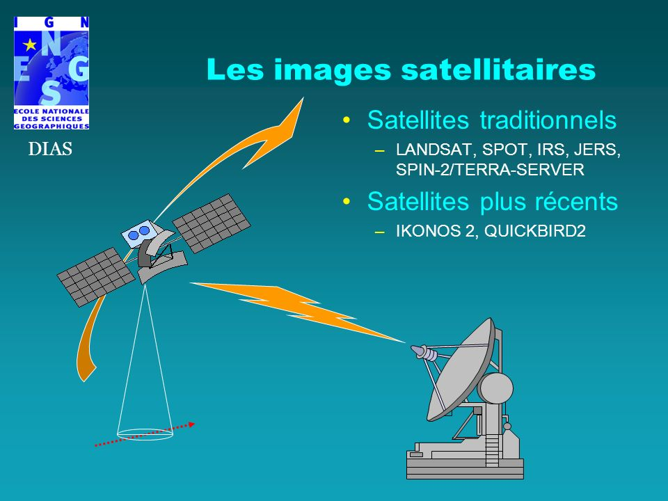 Les images satellitaires