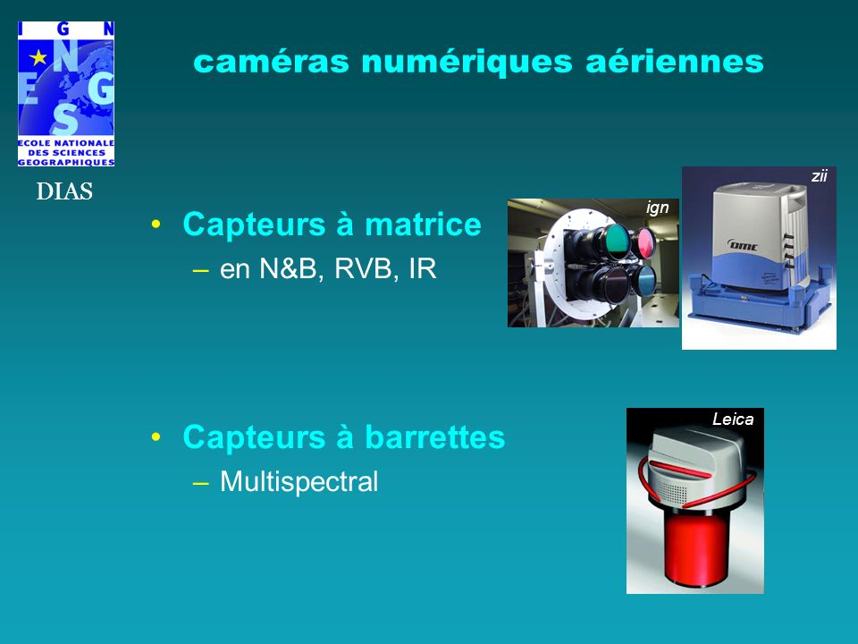 caméras numériques aériennes