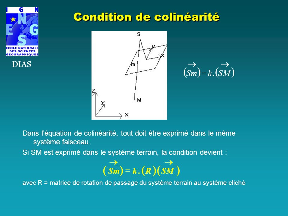 Condition de colinéarité