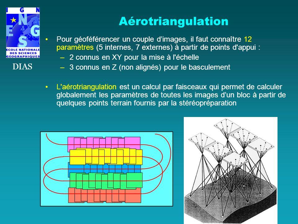 Aérotriangulation DIAS