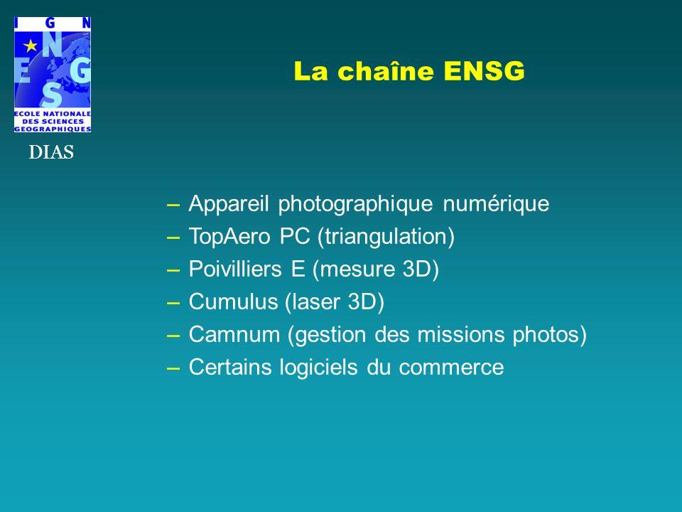La chaîne ENSG Appareil photographique numérique
