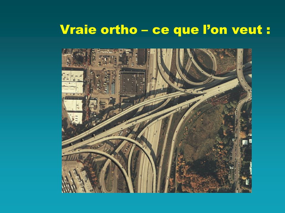 Vraie ortho – ce que l'on veut :