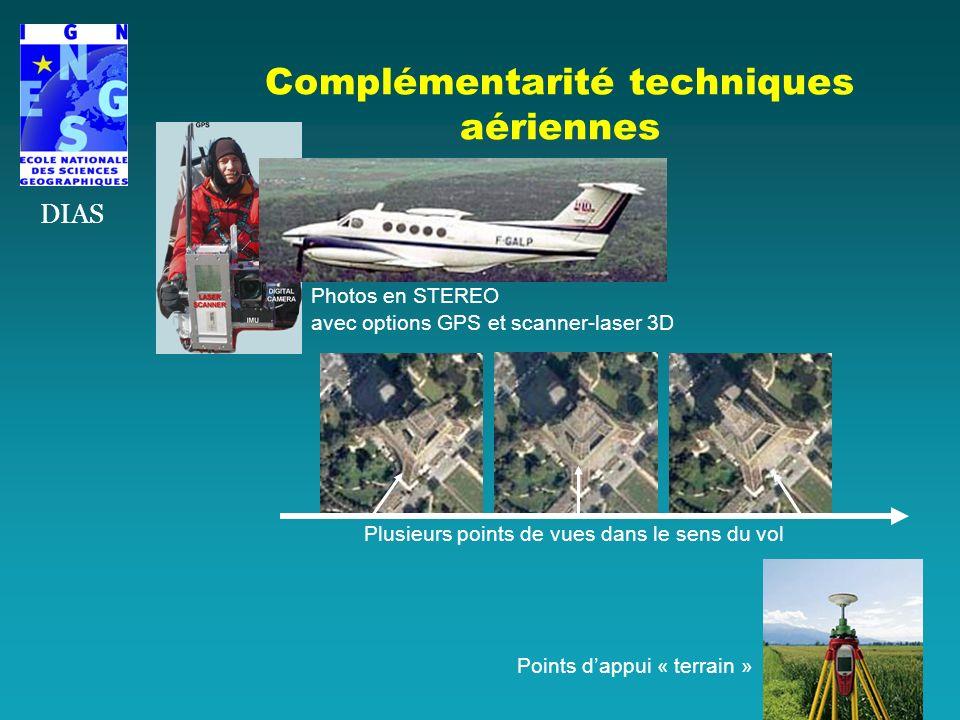 Complémentarité techniques aériennes