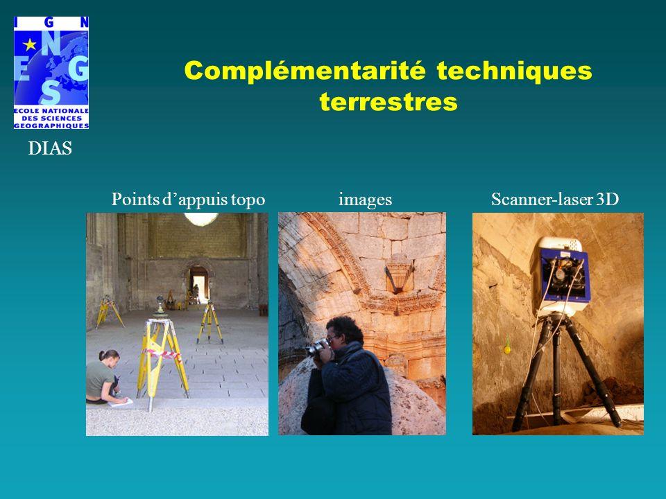 Complémentarité techniques terrestres