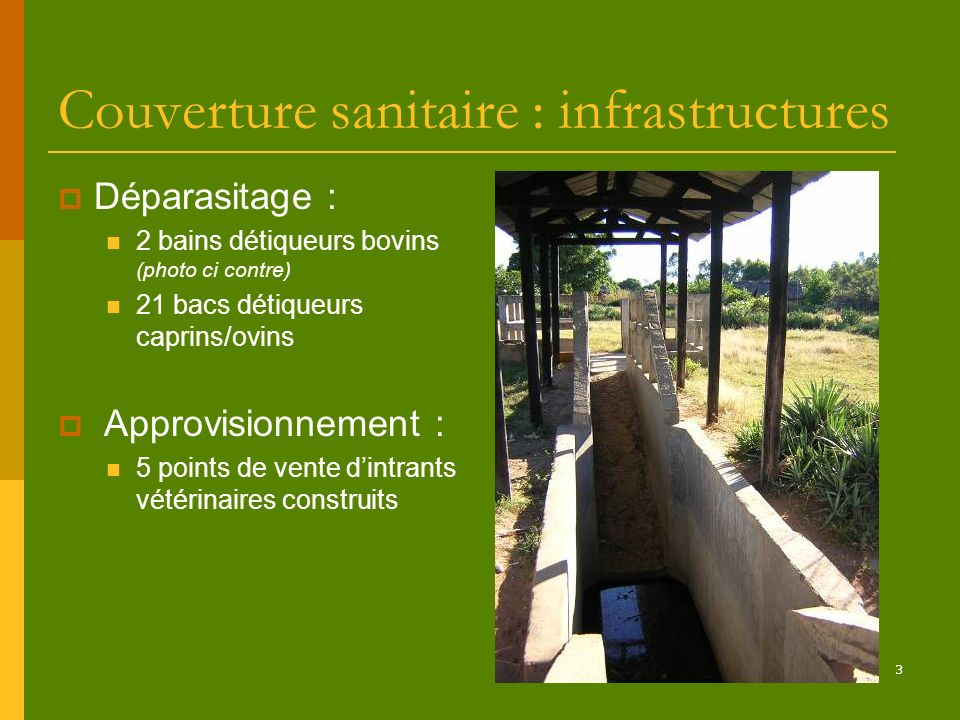 Couverture sanitaire : infrastructures