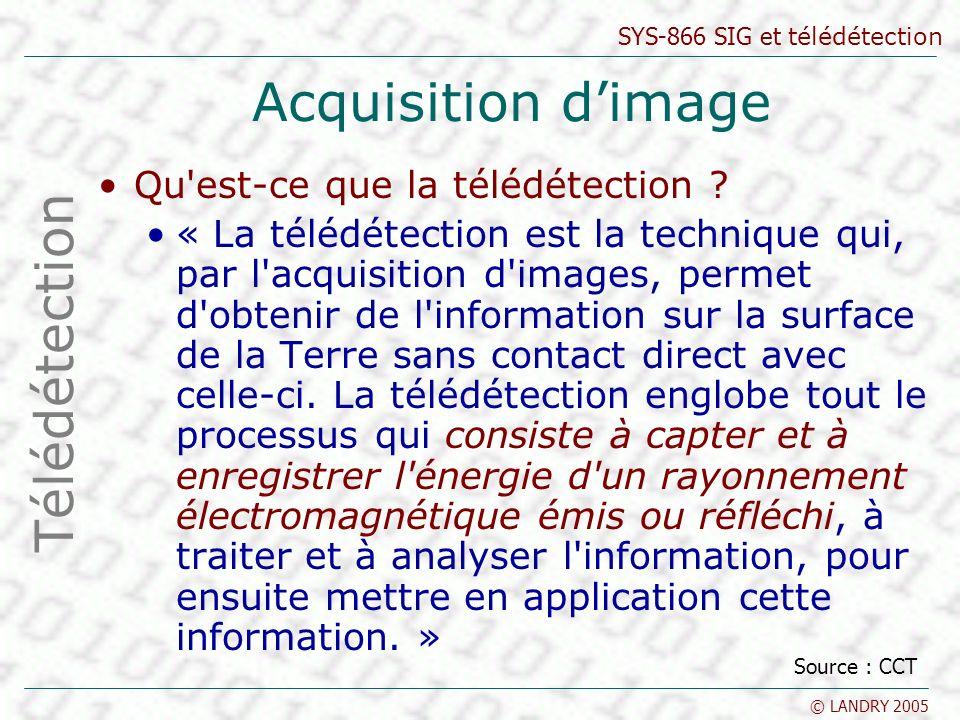 Acquisition d'image Télédétection Qu est-ce que la télédétection