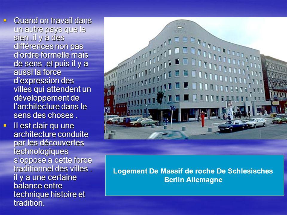 Logement De Massif de roche De Schlesisches Berlin Allemagne