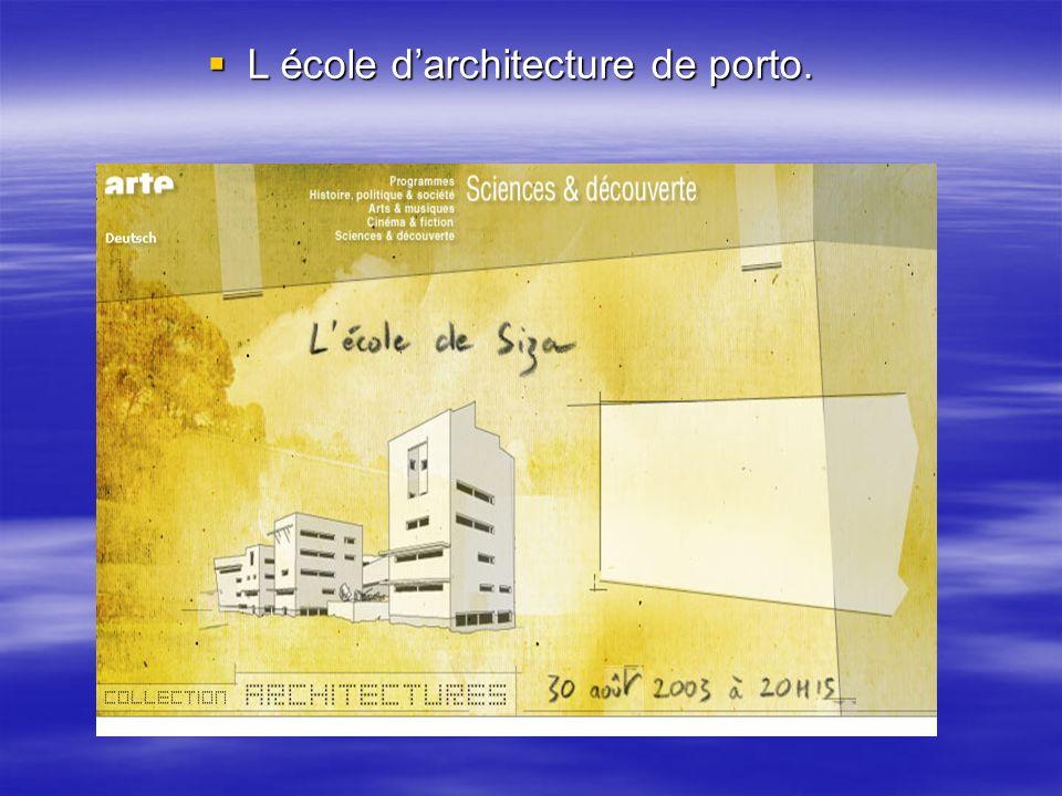 L école d'architecture de porto.