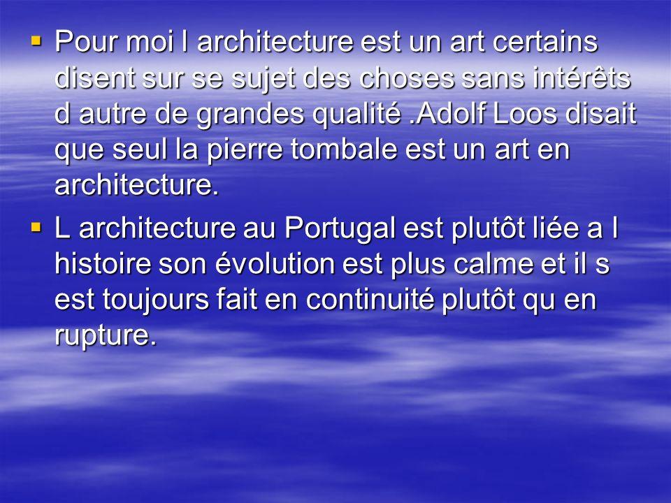 Pour moi l architecture est un art certains disent sur se sujet des choses sans intérêts d autre de grandes qualité .Adolf Loos disait que seul la pierre tombale est un art en architecture.