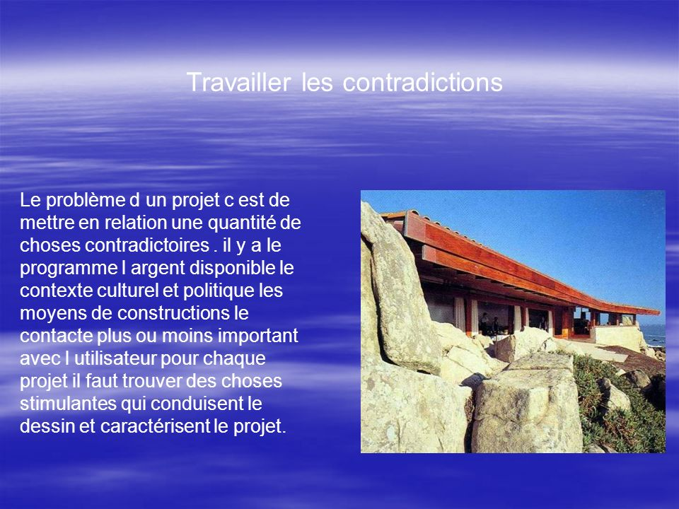 Travailler les contradictions