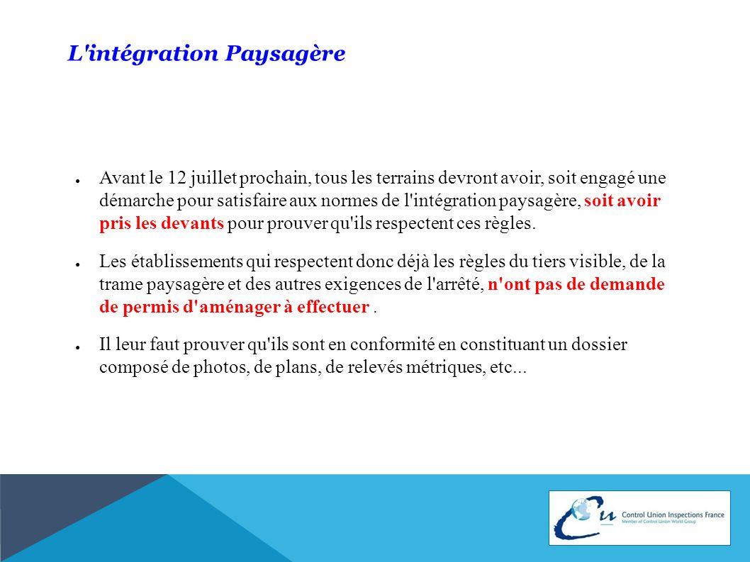 L intégration Paysagère