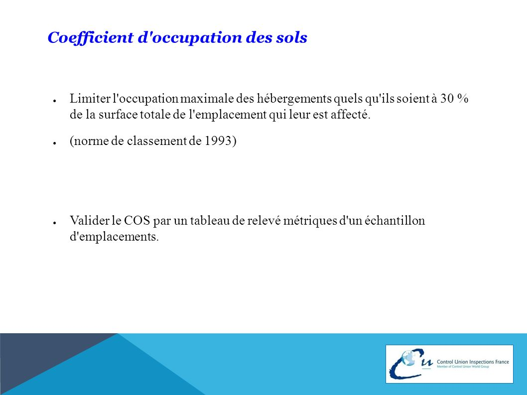Coefficient d occupation des sols