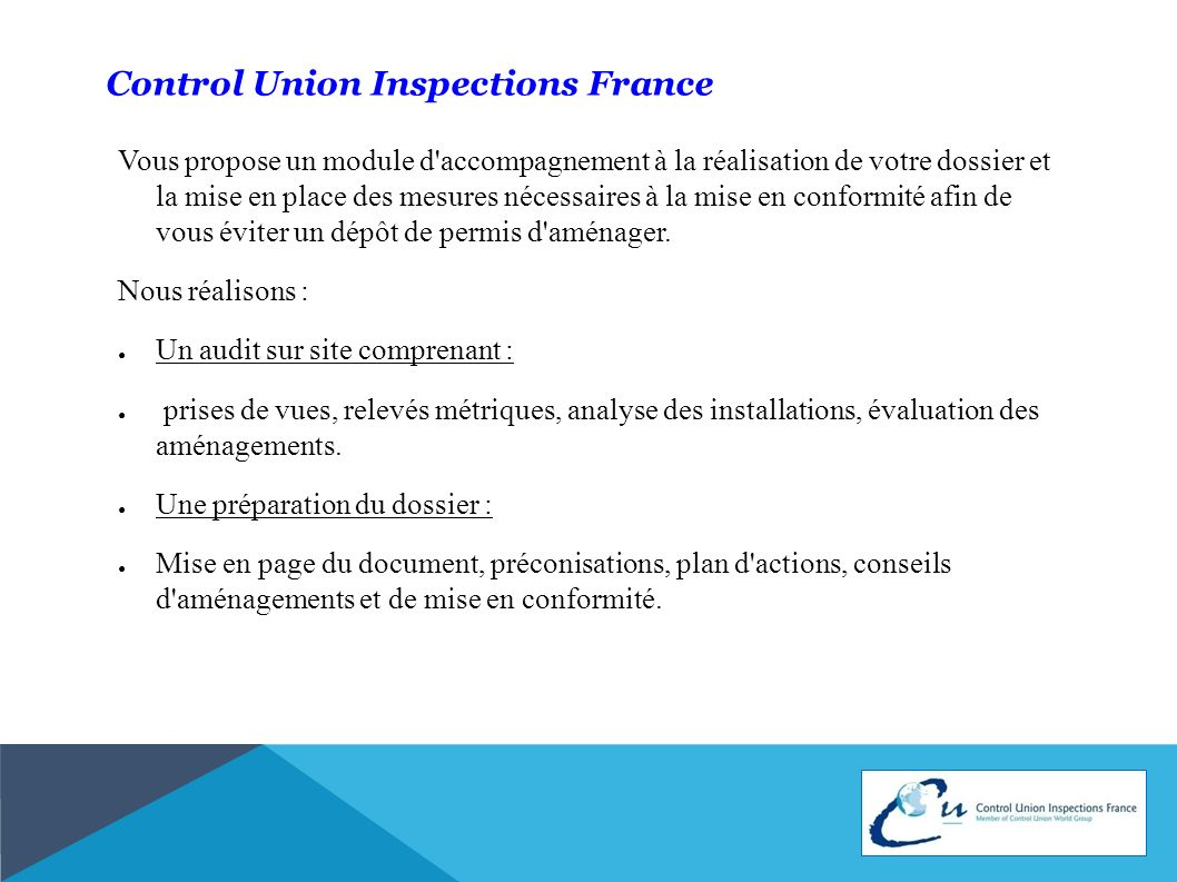 Control Union Inspections France