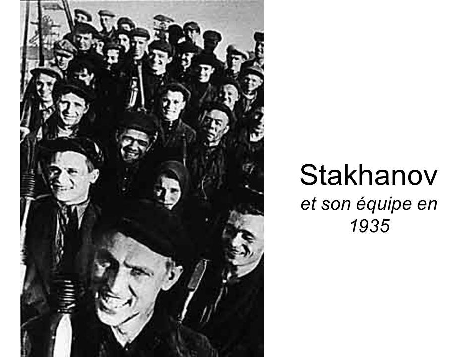 Stakhanov et son équipe en 1935