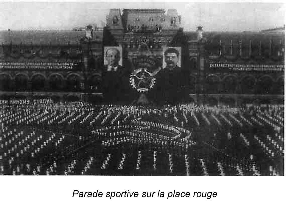 Parade sportive sur la place rouge