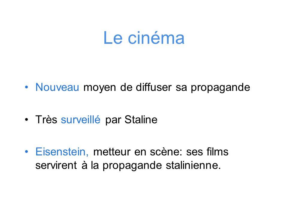 Le cinéma Nouveau moyen de diffuser sa propagande