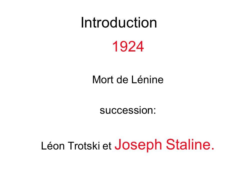 Léon Trotski et Joseph Staline.
