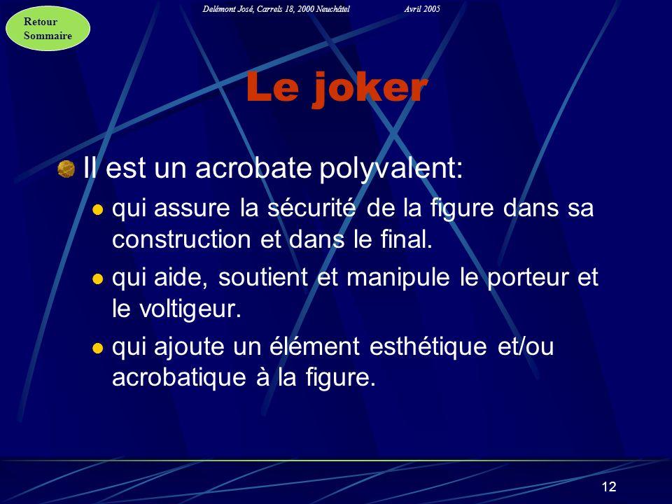 Le joker Il est un acrobate polyvalent: