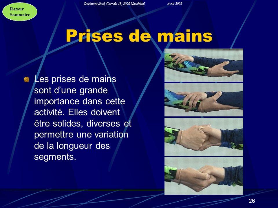Prises de mains