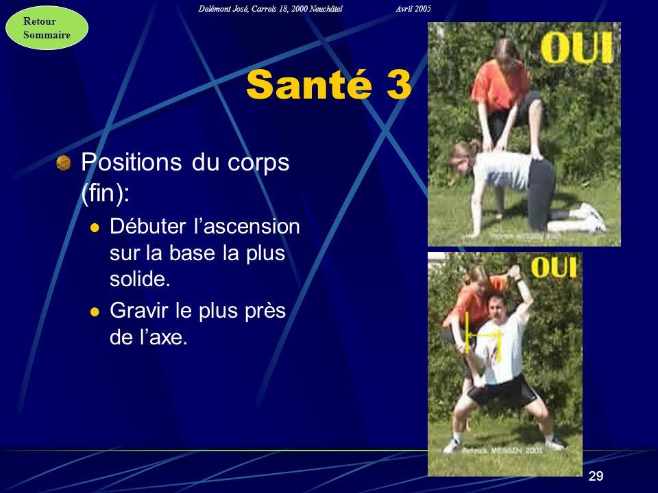 Santé 3 Positions du corps (fin):