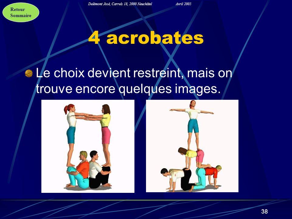 4 acrobates Le choix devient restreint, mais on trouve encore quelques images.