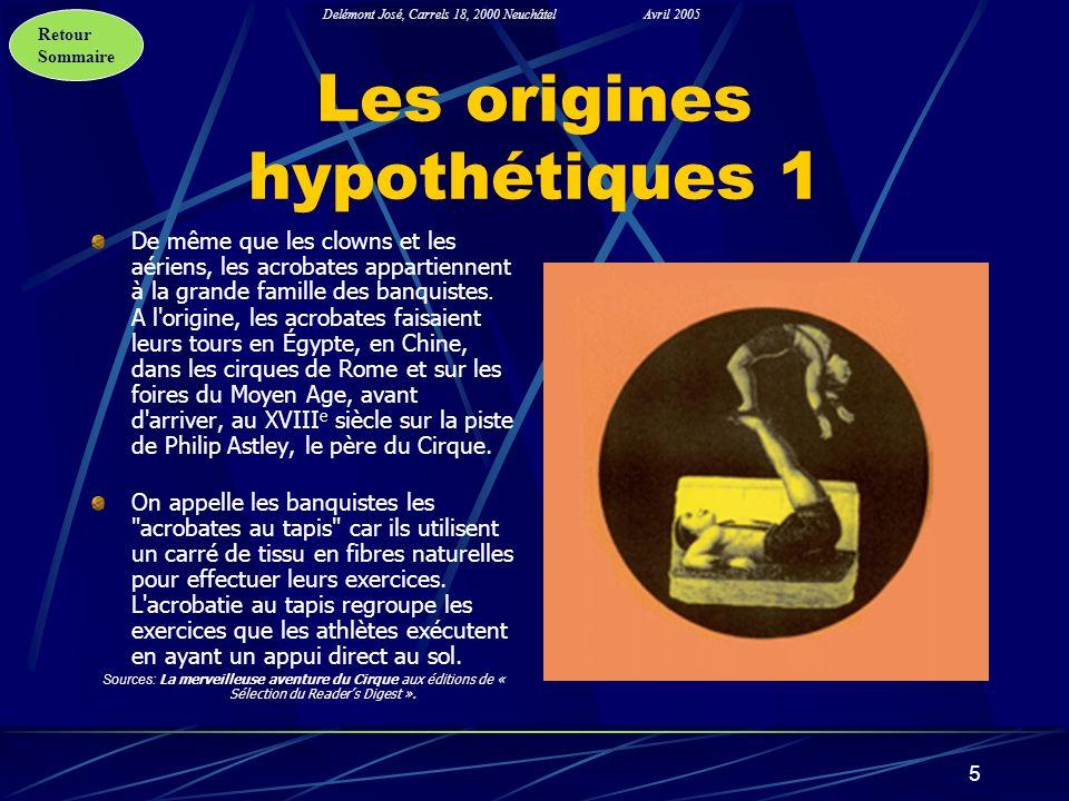 Les origines hypothétiques 1