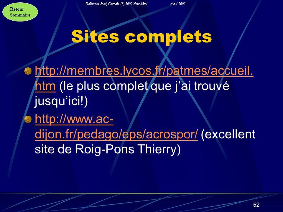 Sites complets http://membres.lycos.fr/patmes/accueil.htm (le plus complet que j'ai trouvé jusqu'ici!)