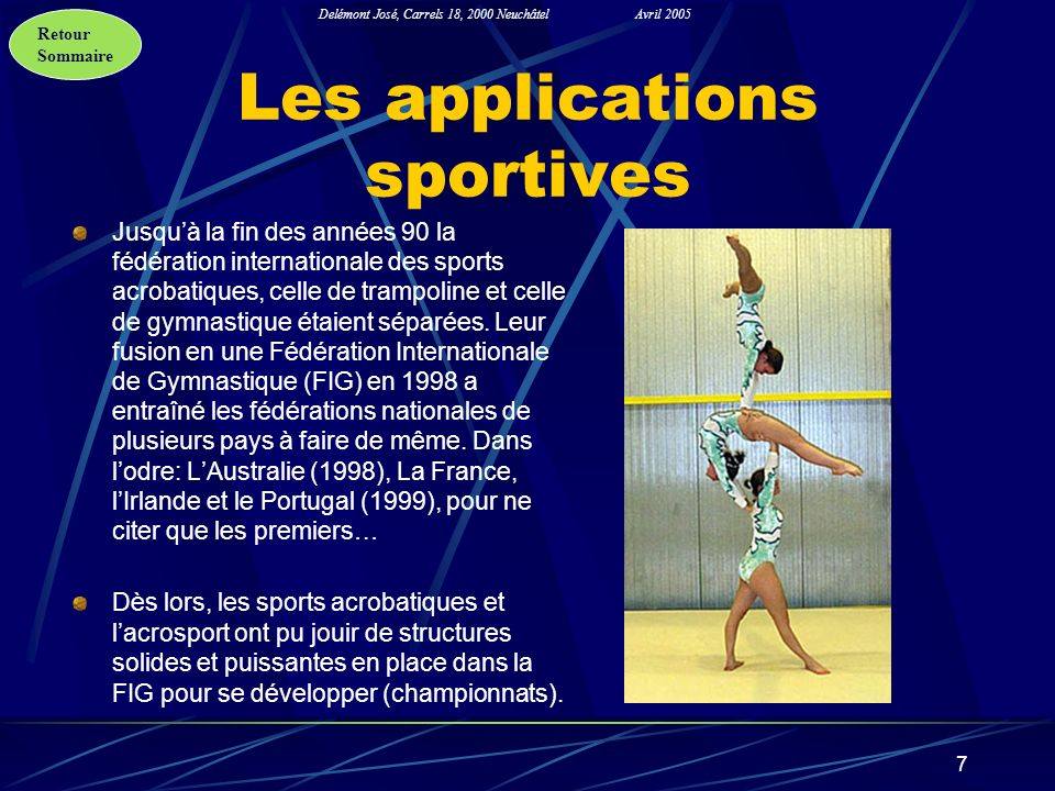 Les applications sportives
