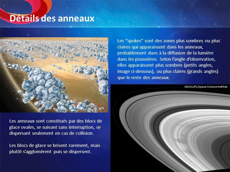 Détails des anneaux NASA/JPL/University of Colorado.