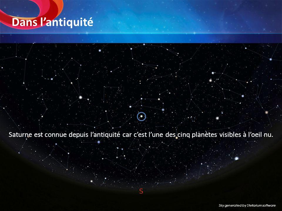 Dans l'antiquité Saturne est connue depuis l'antiquité car c'est l'une des cinq planètes visibles à l'oeil nu.