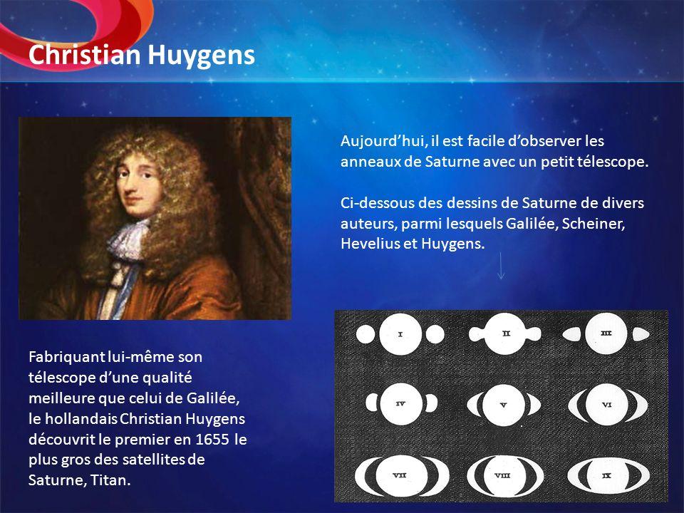 Christian Huygens Aujourd'hui, il est facile d'observer les anneaux de Saturne avec un petit télescope.
