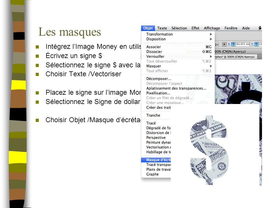Les masques Intégrez l'Image Money en utilisant Fichier /Importer