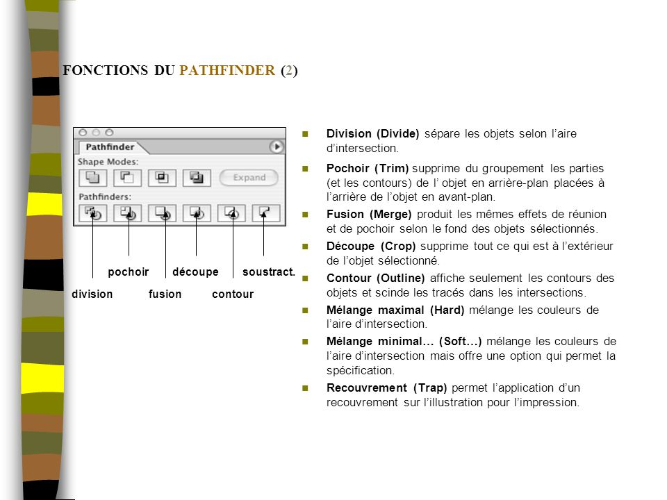 FONCTIONS DU PATHFINDER (2)