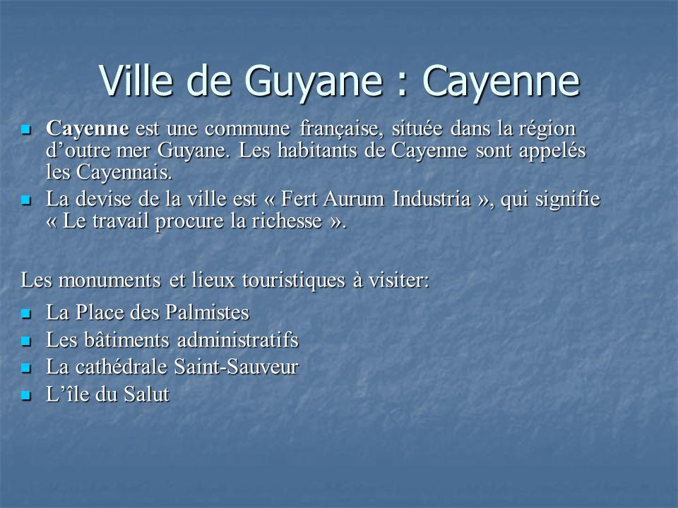 Ville de Guyane : Cayenne