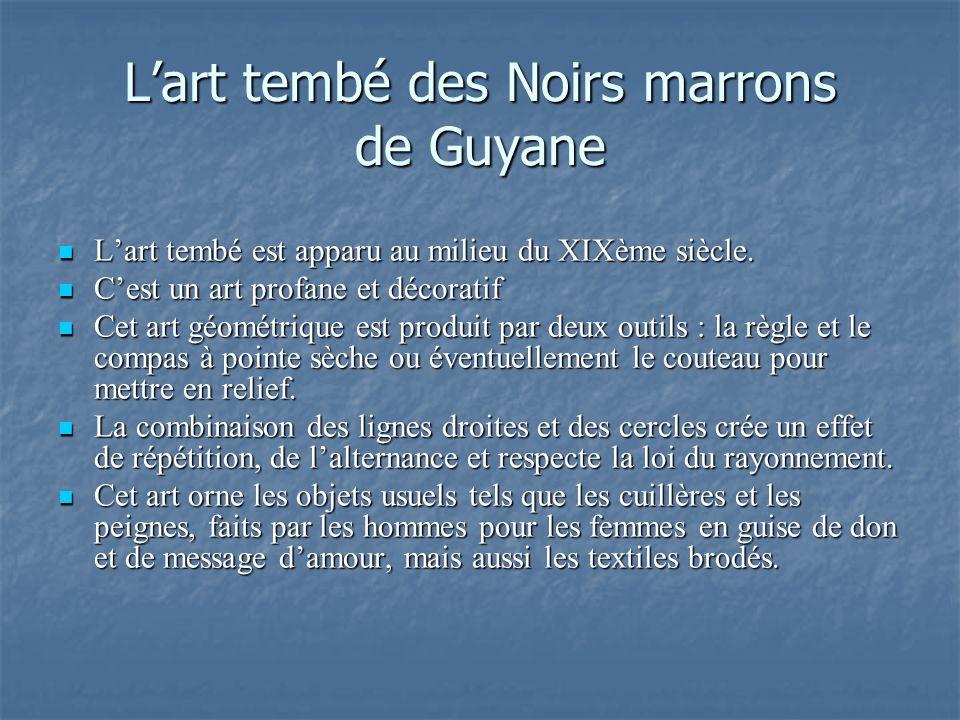 L'art tembé des Noirs marrons de Guyane