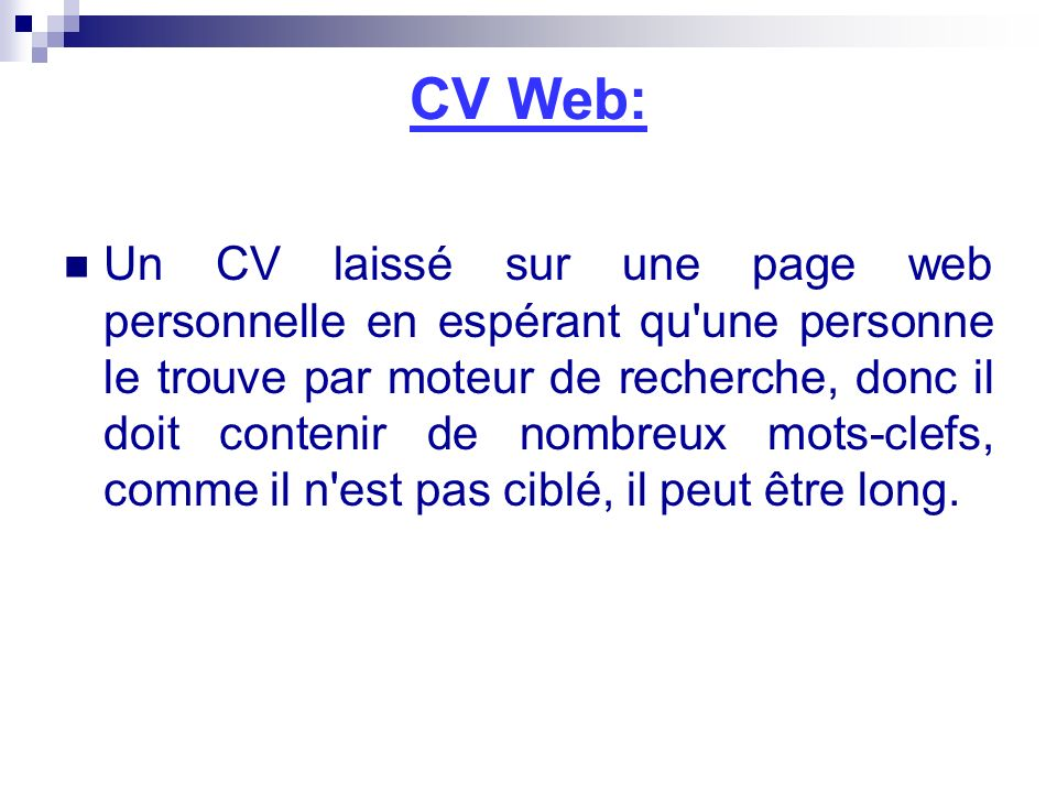 CV Web: