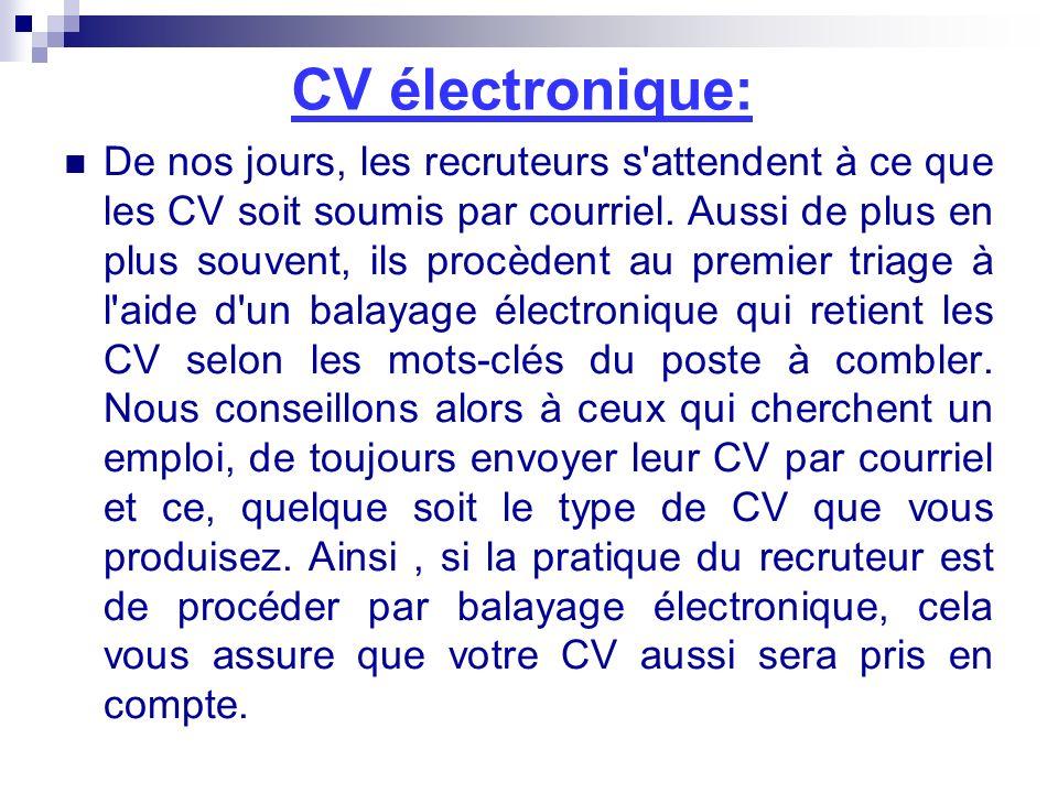 CV électronique:
