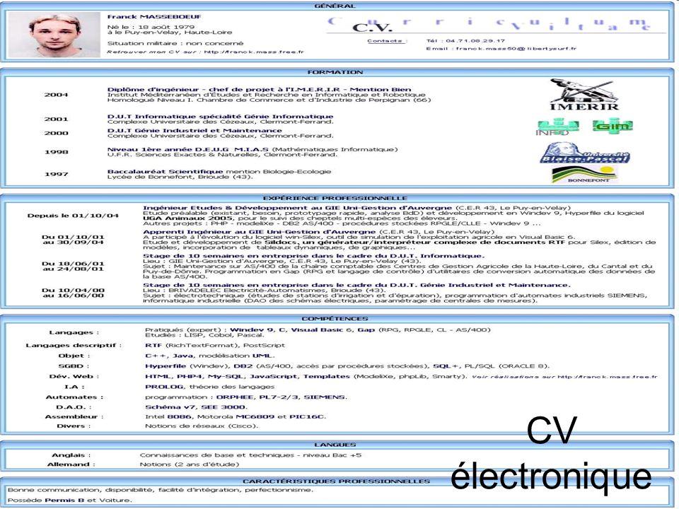 CV électronique