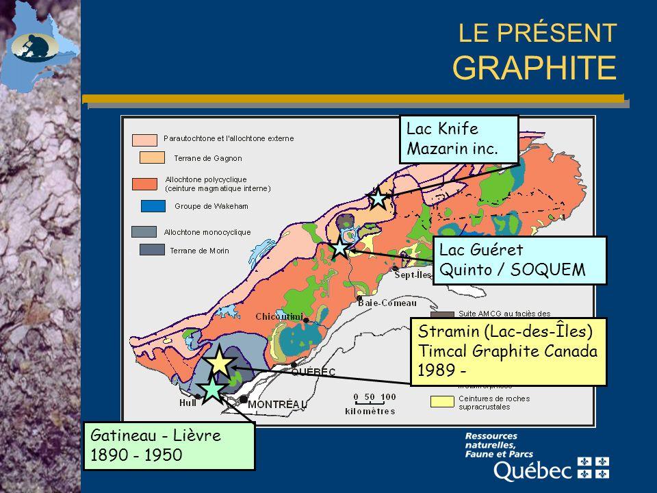 LE PRÉSENT GRAPHITE Lac Knife Mazarin inc. Lac Guéret Quinto / SOQUEM
