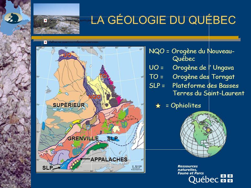 LA GÉOLOGIE DU QUÉBEC NQO = Orogène du Nouveau-Québec