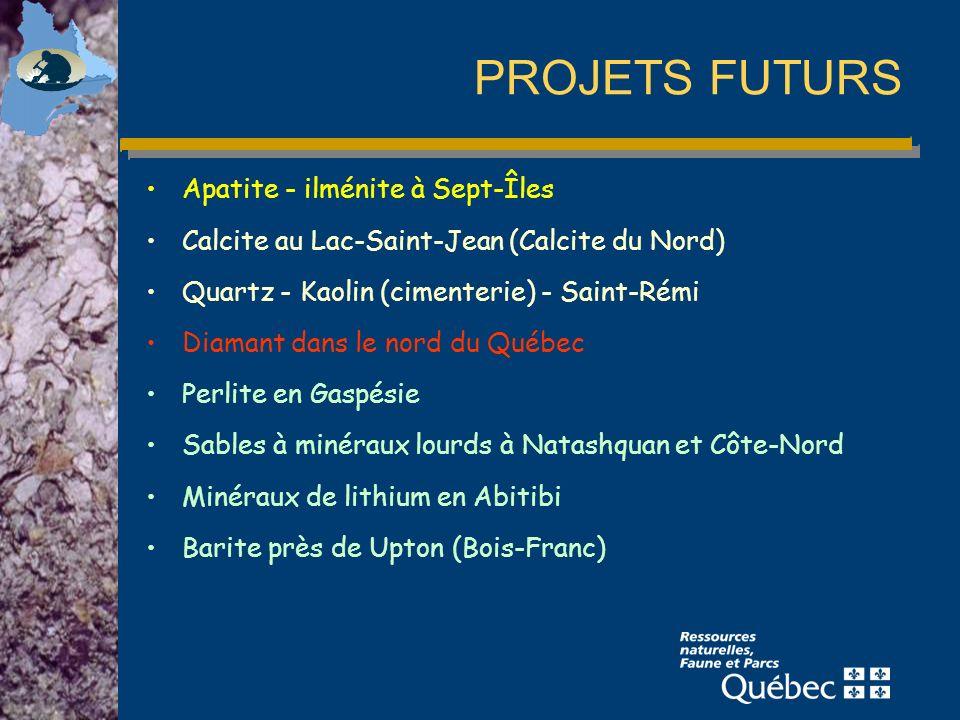 PROJETS FUTURS Apatite - ilménite à Sept-Îles