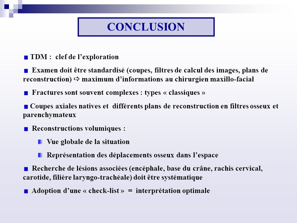 CONCLUSION TDM : clef de l'exploration