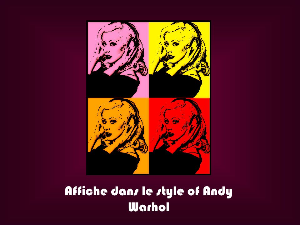 Affiche dans le style of Andy Warhol