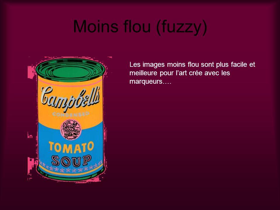 Moins flou (fuzzy) Les images moins flou sont plus facile et meilleure pour l'art crée avec les marqueurs….