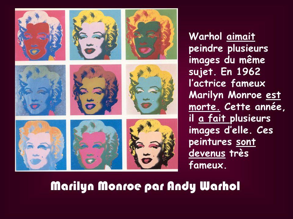 Marilyn Monroe par Andy Warhol
