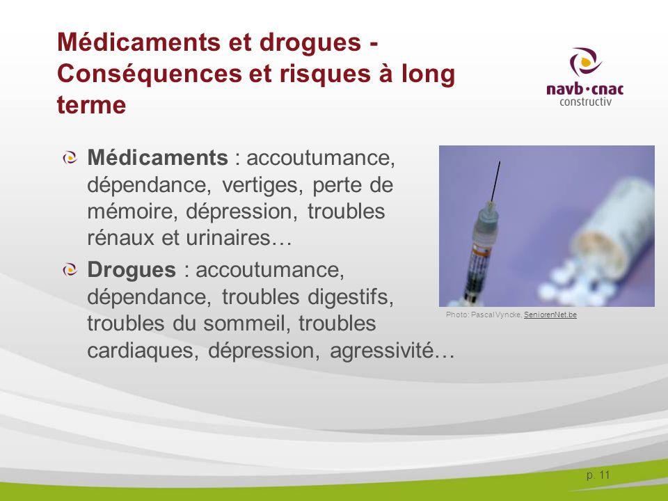 Médicaments et drogues - Conséquences et risques à long terme