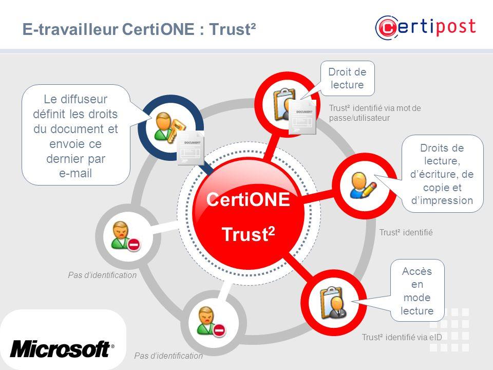 E-travailleur CertiONE : Trust²